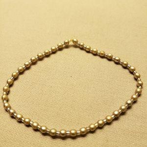 Silver Round/Cylinder Beaded Friendship Bracelet ♥